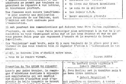 Bulletin n°1 - ARB - Robert Brasillach