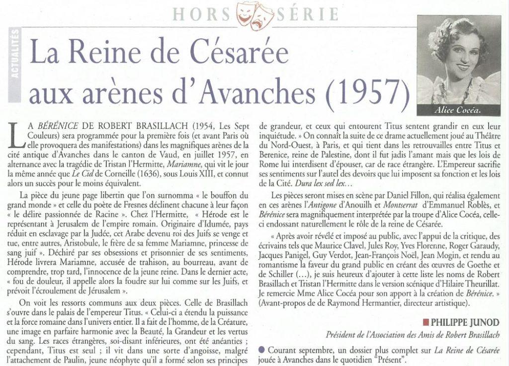Brasillach-Robert-ARB-Théatre-La-reine-Césarée-1957-Présent-