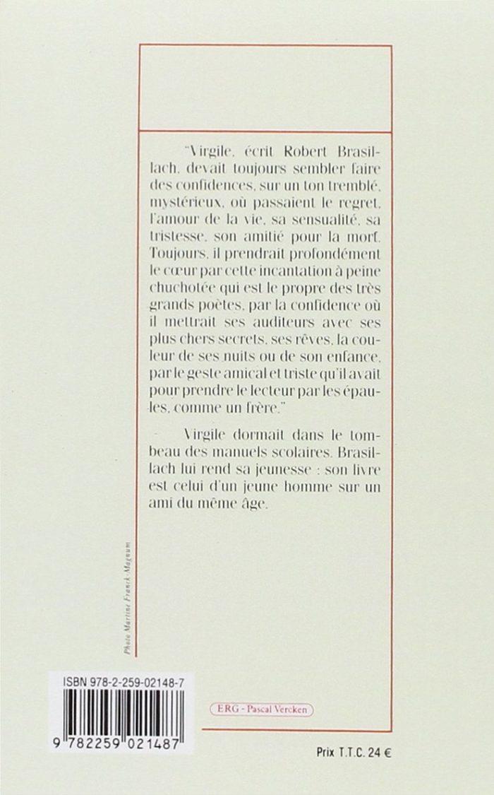 Brasillach, Robert - Présence de virgile - Plon 1989 dos