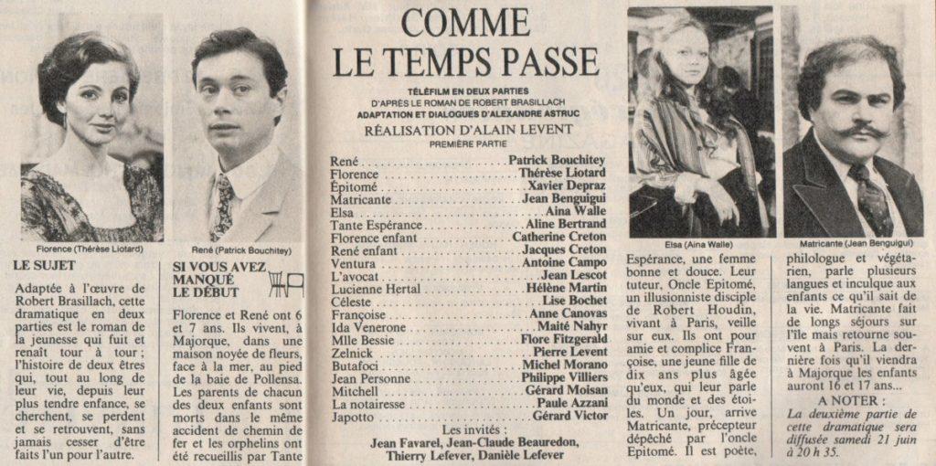 Brasillach-Robert-Téléfilm-Comme-le-temps-passe-1980-01