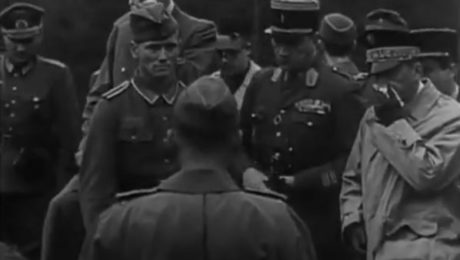 Brasillach, Robert - Video à Katyn - 01 janv. 1943 - Visite de Monsieur de Brinon - LVF