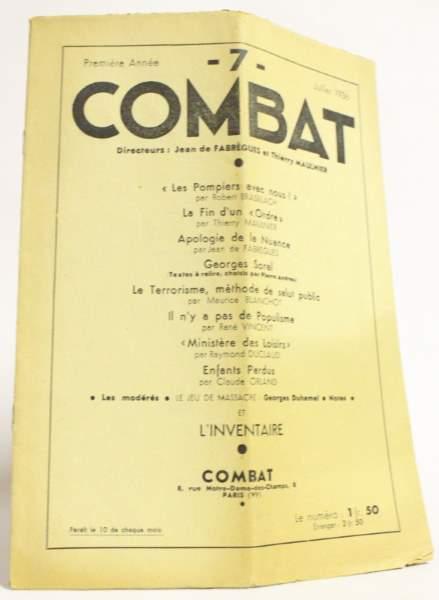 Brasillach, robert - Combat - 1936
