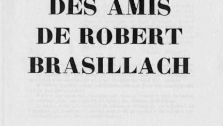 08 - Cahiers des Amis de Robert Brasillach - 6 Février 1960