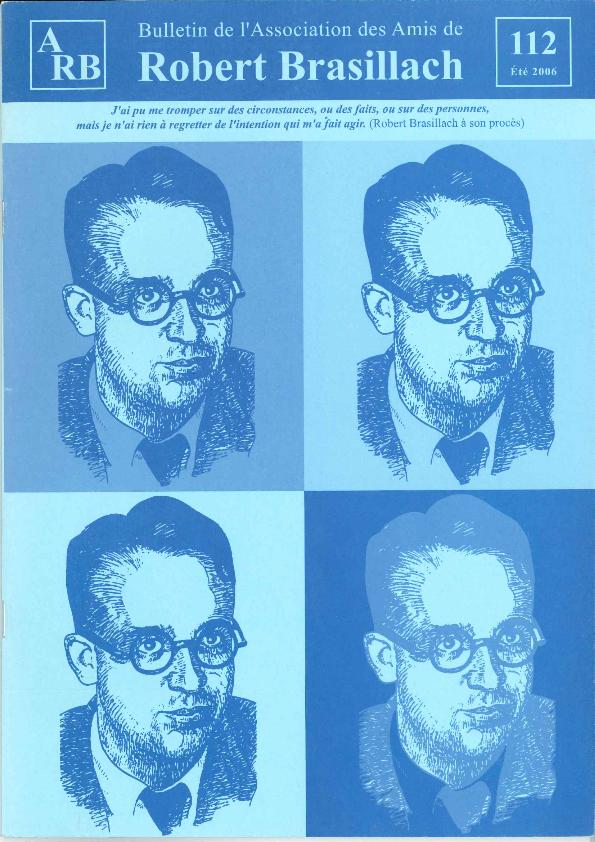 Les Amis de Robert Brasillach - Bulletin 112