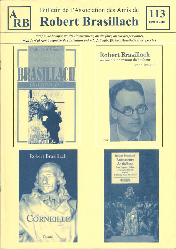 Les Amis de Robert Brasillach - Bulletin 113