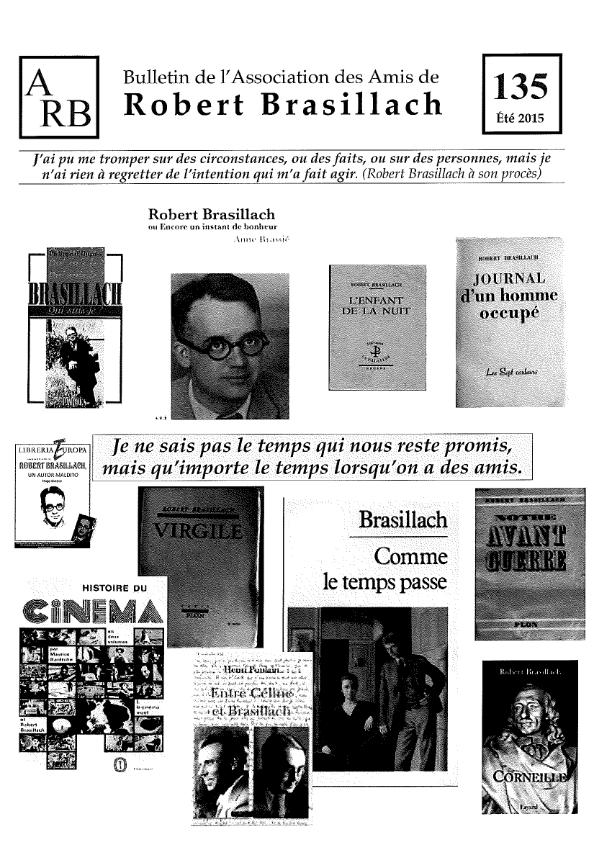 Bulletin de l'association des Amis de Robert Brasillach - 135