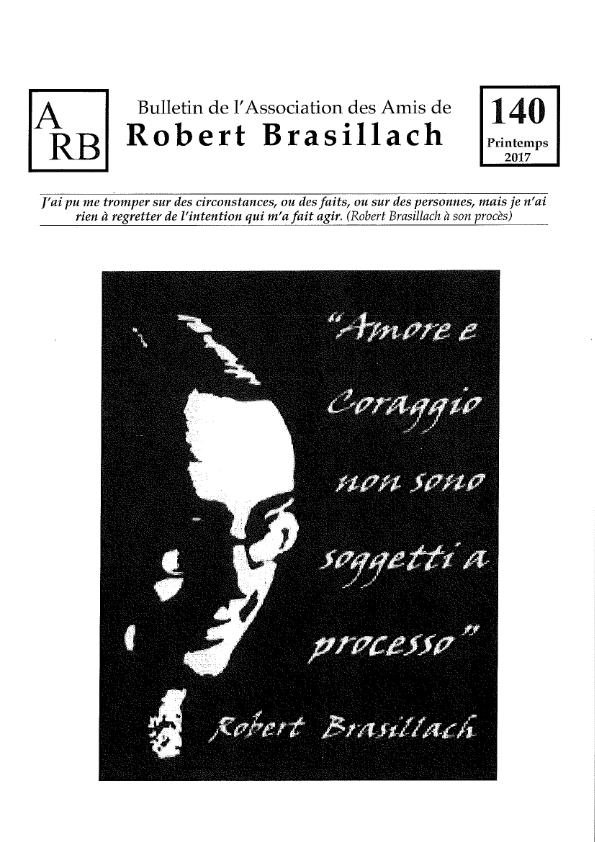 Bulletin de l'association des Amis de Robert Brasillach - 140